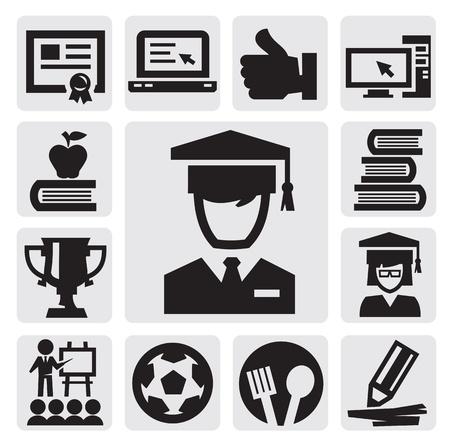 iconos educacion: Iconos de la educaci�n