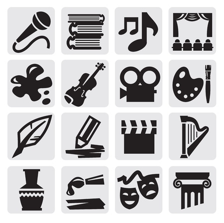 Arts icon set Vector