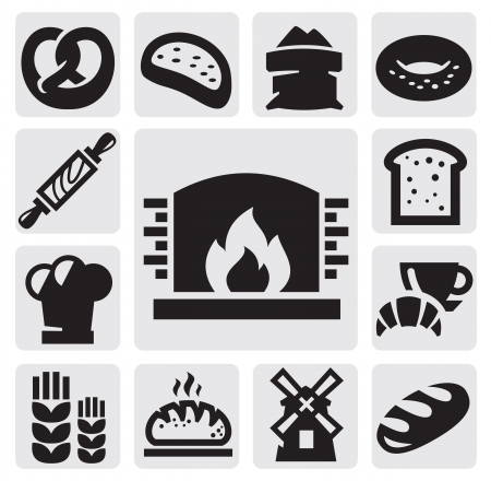 bread icons Vector