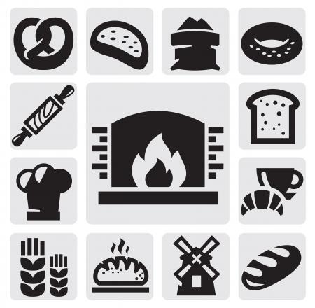 bagel: brood pictogrammen