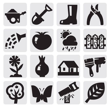 gardening icons Stock Vector - 15170406