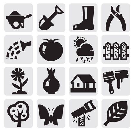 gardening hose: gardening icons
