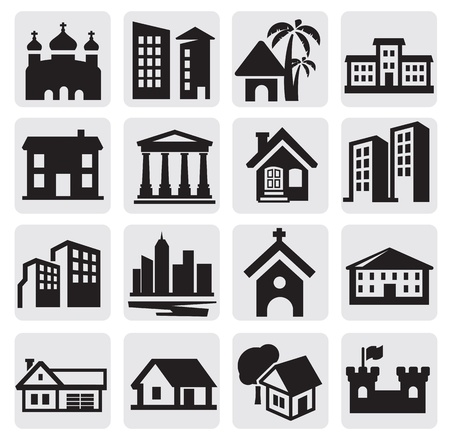 church buildings: hous icons