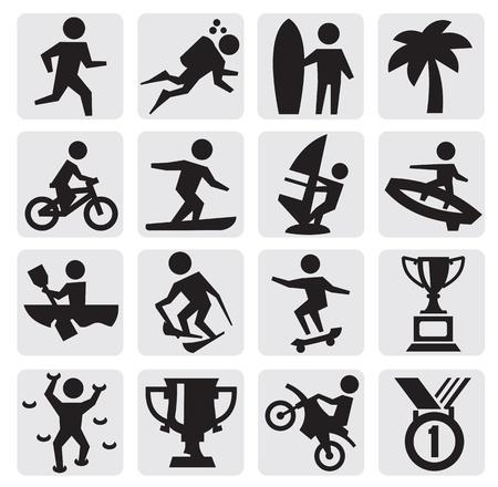 sports icon: deportes extremos icono Vectores