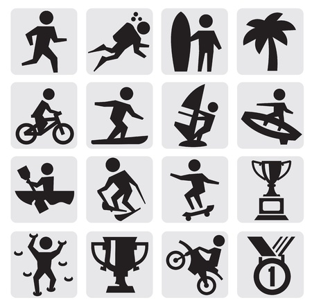 extreme sports icon Stock Vector - 15170405