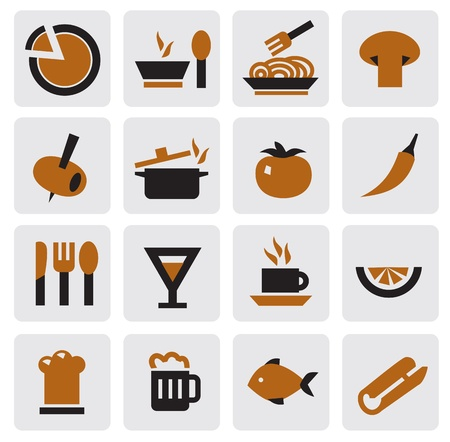 preparing food: kitchen icons