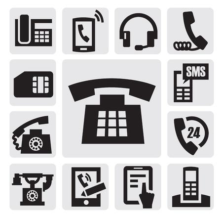 vintage telefoon: Telefoonpictogrammen