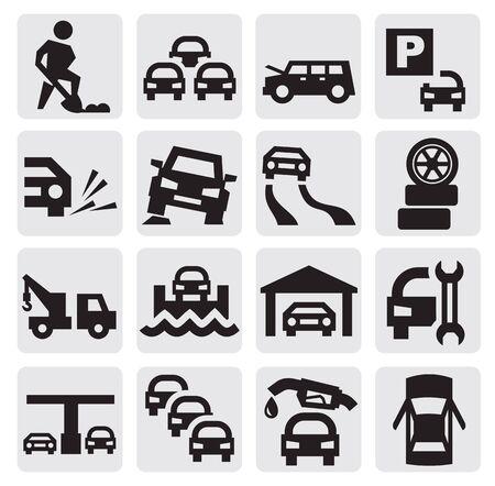 auto icons Stock Vector - 15389889