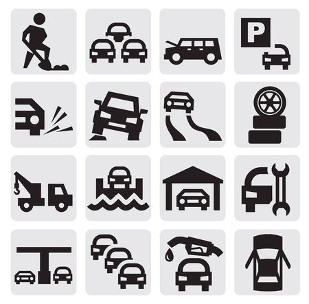 cars parking: auto icons