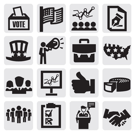 us government: Election icons