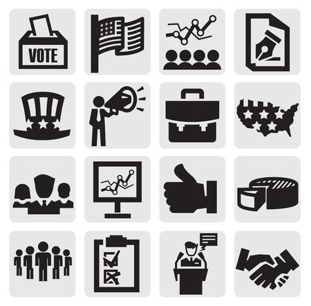encuestando: Iconos de las elecciones Vectores