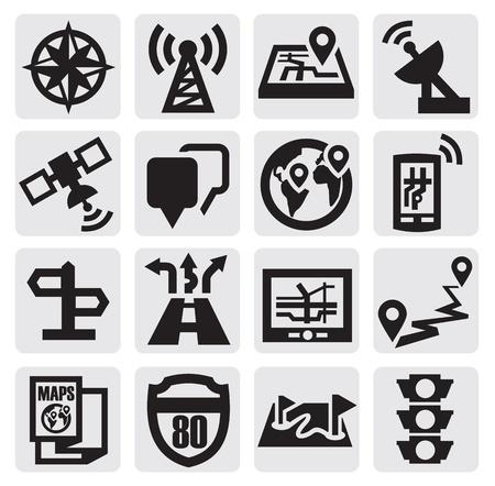 gps navigation: Navigation icons
