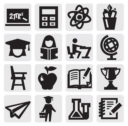 education icon Stock Vector - 15389888