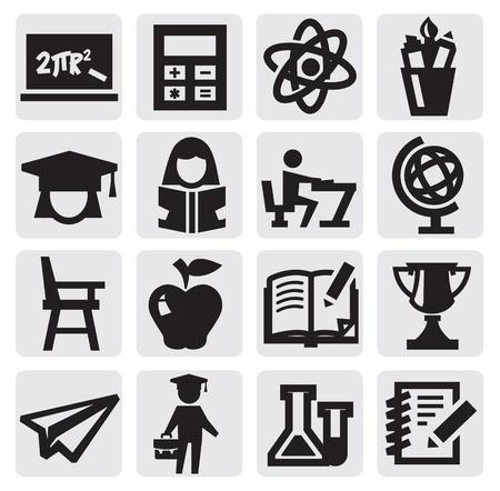 student boy: educazione icona