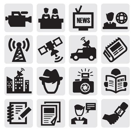 reportero: iconos reportero Vectores