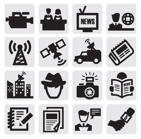 reporter icons Stock Vector - 15402644