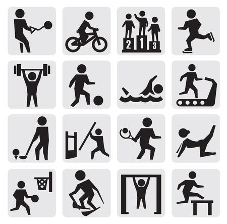 skying: sport icons Illustration