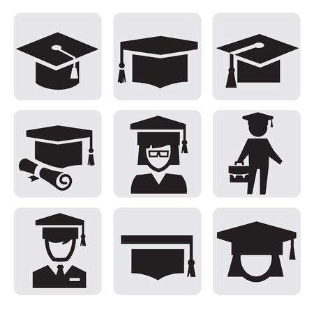 chapeau de graduation: ic�nes d'�ducation Illustration