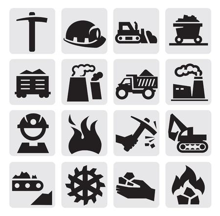 cinta transportadora: carbón icono Vectores