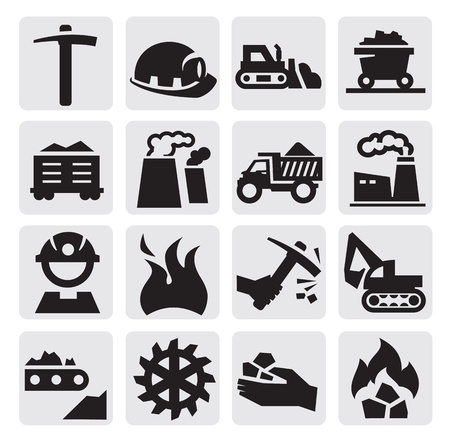 carbone: carbone icona Vettoriali