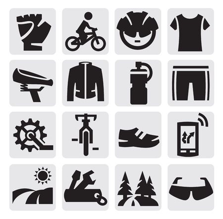 biking glove: biking icon