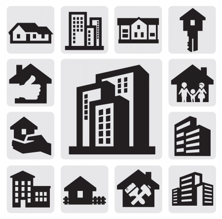 apartment house: hous icons