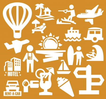 vacation icons Stock Vector - 15479413