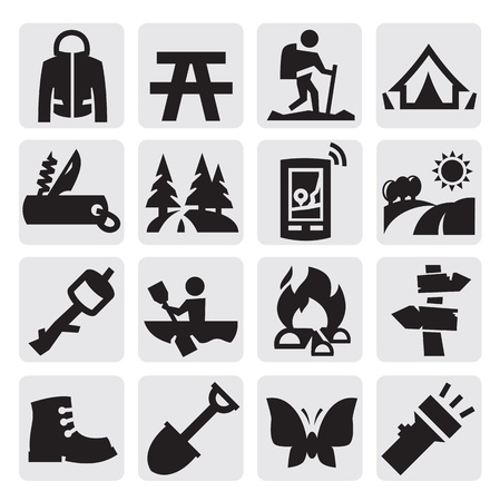 taschenlampe: camping Thema Illustration