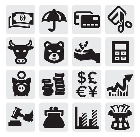 veiling: financiële pictogrammen