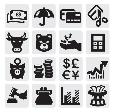 savings account: financial icons Illustration
