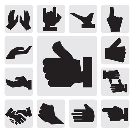 pinkie: hands icon Illustration