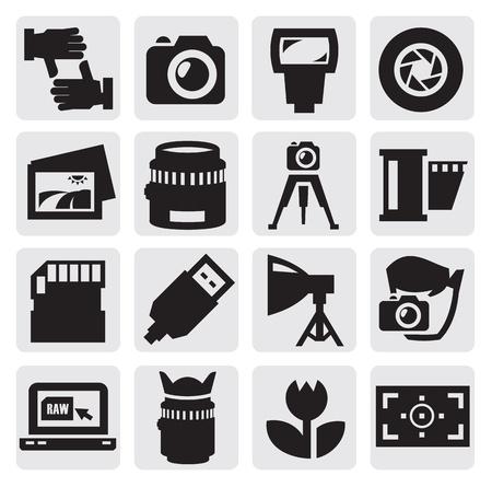 camera icon set: camera icon