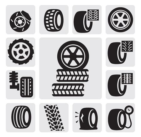 haltbarkeit: Reifen icons Illustration