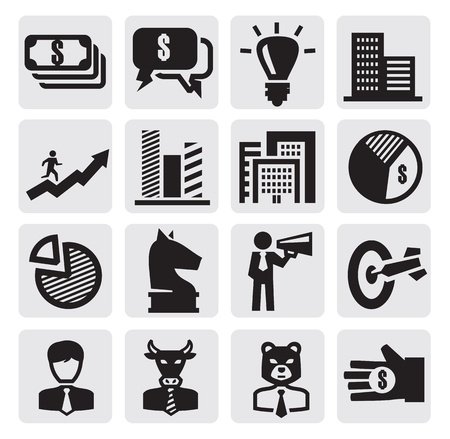 a bank employee: Business Icons Illustration