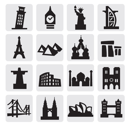 big ben tower: travel and landmarks Illustration
