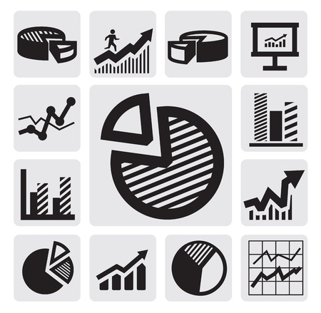line graph: business chart icons
