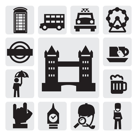 london icons Stock Vector - 15631945