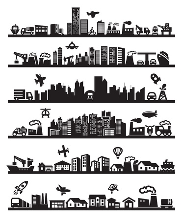 근교: 큰 도시의 아이콘