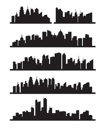 big city icons Stock Vector - 15631951