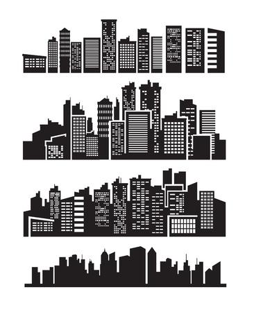grote stad pictogrammen Vector Illustratie