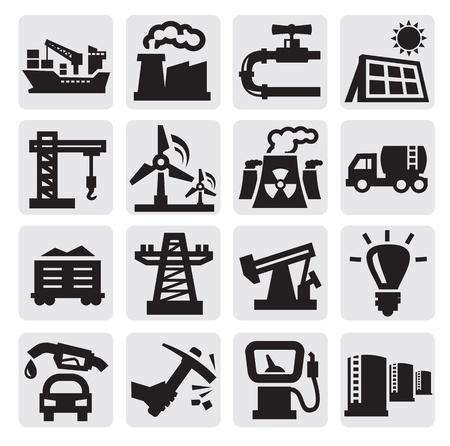 kopalni: ikony przemysłu Ilustracja