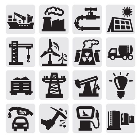 nuclear symbol icon: industry icons