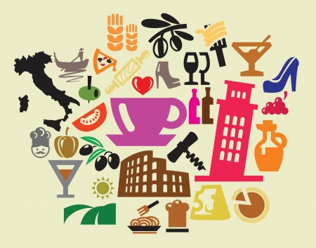 italy icons Stock Vector - 15694954