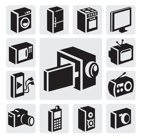 electronic devices icons Stock Vector - 15694959