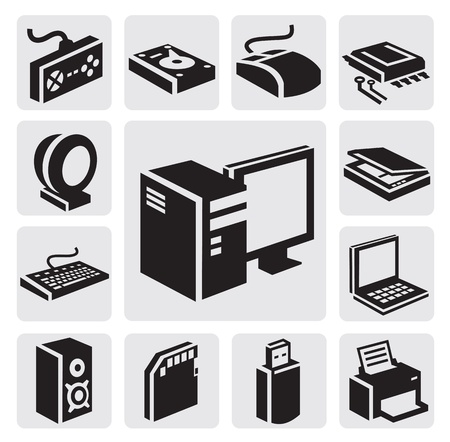 hardware icon: Computer icon Illustration