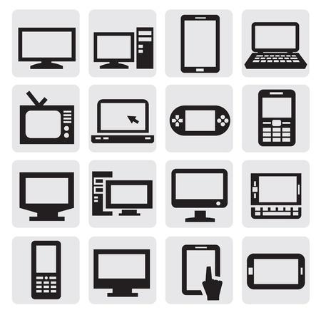 ordinateur de bureau: dispositifs �lectroniques Illustration
