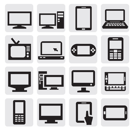 technology icon: electronic devices Illustration
