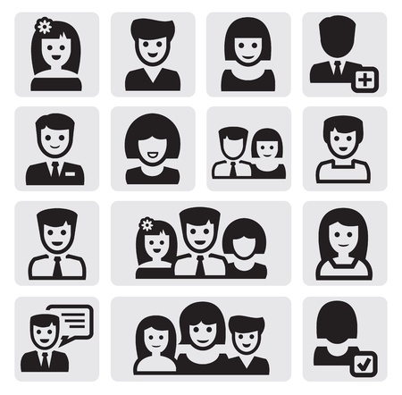 simple girl: people icons Illustration