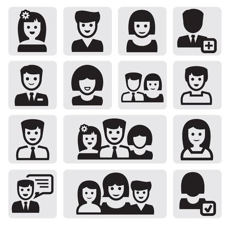 black lady talking: personas iconos Vectores