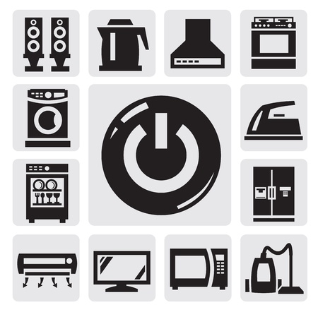 washing symbol: Home appliances icon Illustration